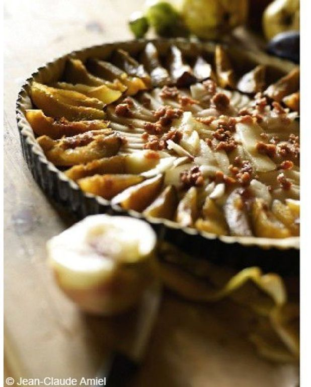 tarte aux poires pour 6 personnes recettes elle table. Black Bedroom Furniture Sets. Home Design Ideas