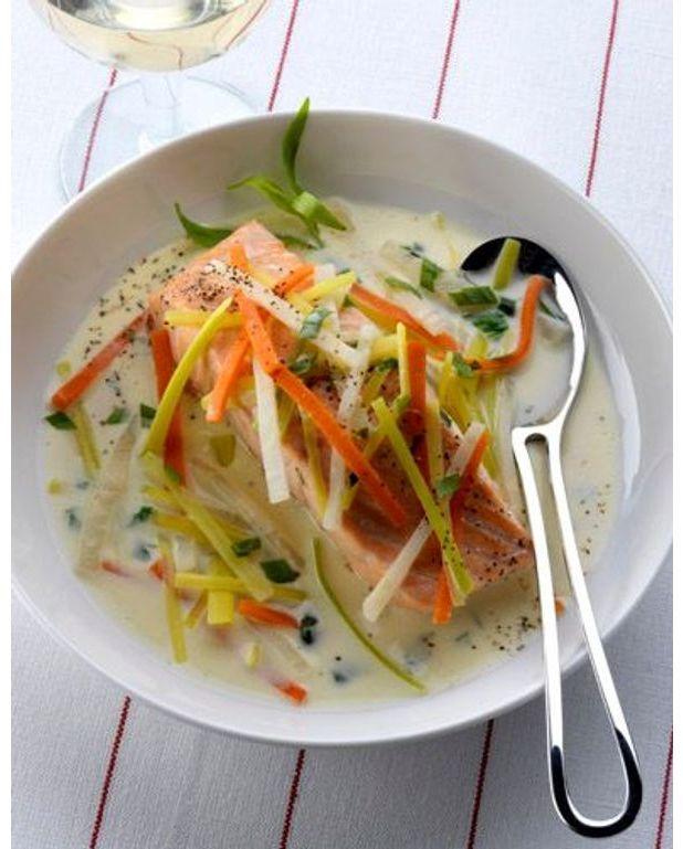 Waterzo de saumon l estragon pour 4 personnes for Cuisine de a a z