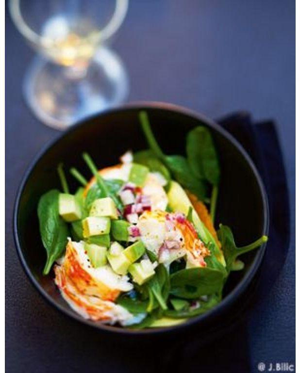 Salade de langouste ti de pour 6 personnes recettes elle for Cuisine queue de langouste