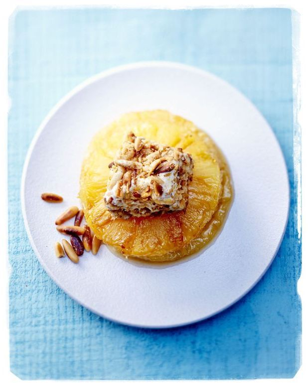 Ananas et glace aux pignons pour 6 personnes recettes - Cuisine tv recettes minutes chrono ...