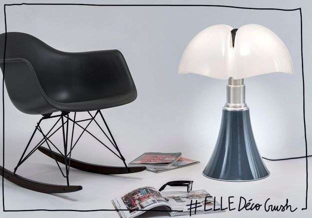 elled cocrush l iconique lampe pipistrello passe en mode denim pour l automne elle d coration. Black Bedroom Furniture Sets. Home Design Ideas
