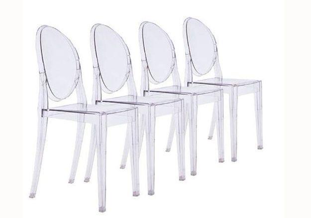1 objet 2 budgets la chaise ghost versus celle de but for But chaise transparente