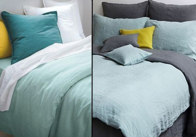 1 objet 2 budgets le linge de lit en lin merci versus celui de la redoute elle d coration. Black Bedroom Furniture Sets. Home Design Ideas