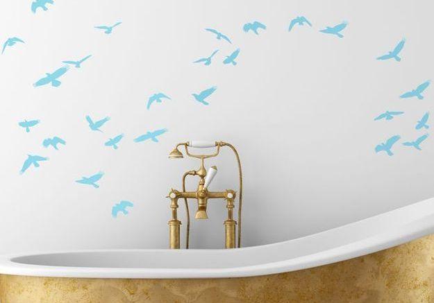 Comment relooker sa salle de bains sans se ruiner elle - Stickers salle de bain castorama ...