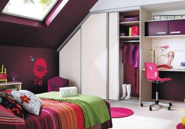 Salle de bain dans chambre sous comble app10 au passage - Amenager une chambre en longueur ...