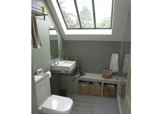 Une nouvelle pi ce pour mes combles elle d coration - Amenagement petite salle de bain sous pente ...