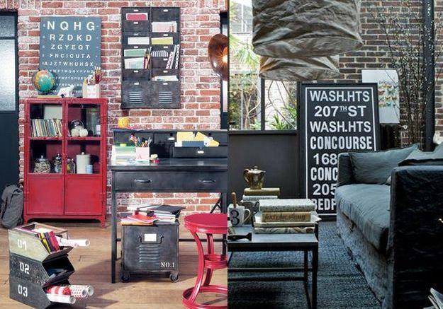 nos conseils pour une d co industrielle au top elle. Black Bedroom Furniture Sets. Home Design Ideas