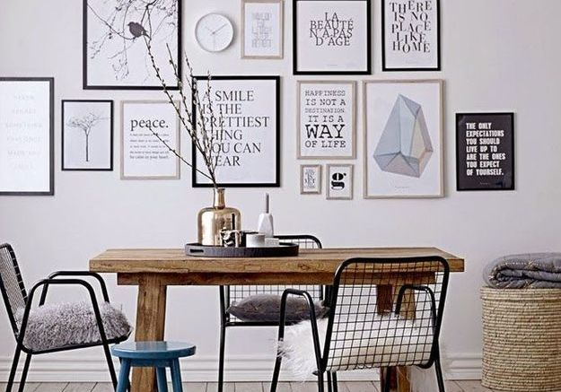 On passe le style scandinave la loupe elle d coration for Decoration murale nordique