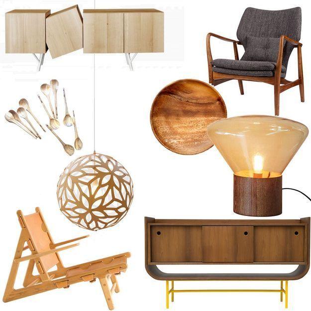 meuble en bois clair bois blond ou bois fonc la tendance touche du bois elle d coration. Black Bedroom Furniture Sets. Home Design Ideas