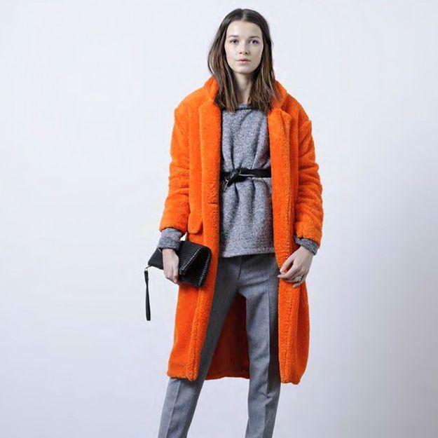 Manteau tres long femme avec capuche