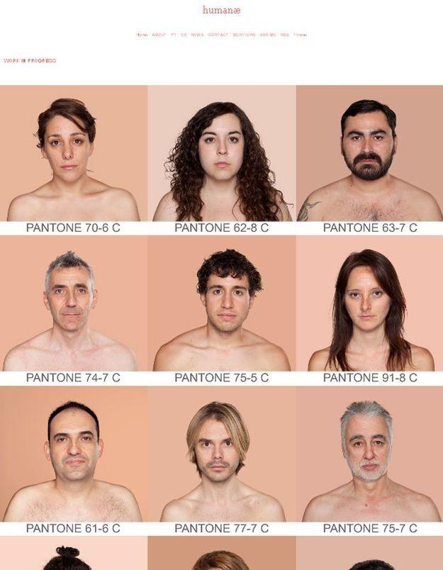 Un inventaire universel des couleurs de peaux
