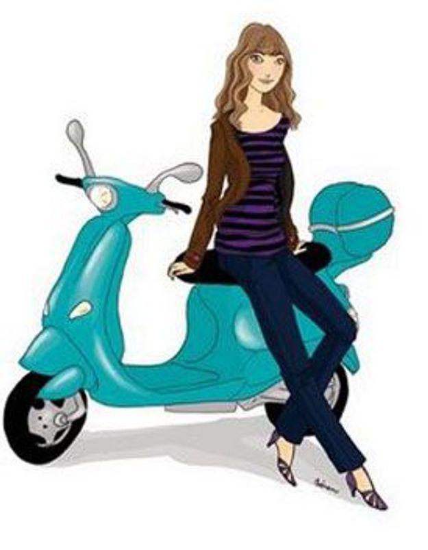 """Nuchenuche : """"Petite sociologie du scooter à l'usage des femmes..."""""""