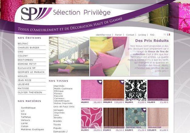 offrez vous du tissu de qualit prix r duit elle d coration. Black Bedroom Furniture Sets. Home Design Ideas