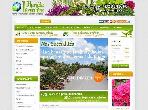 La plus grande p pini re de france ouvre sa boutique en for Pepinieres en ligne