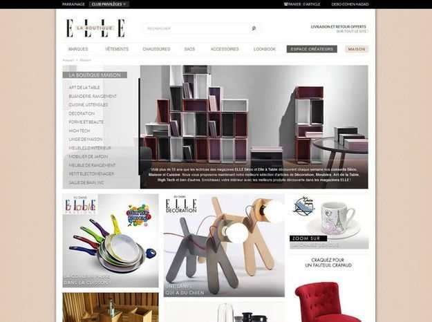 Elle lance sa boutique en ligne elle d coration for Boutique deco en ligne