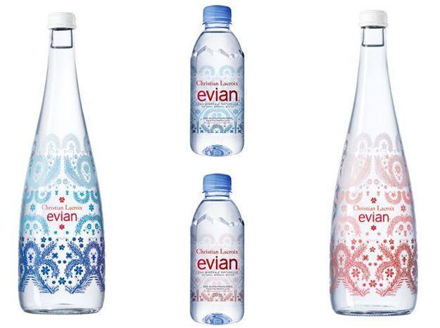 L objet du jour la nouvelle bouteille evian x christian lacroix elle d c - Collection bouteille evian ...