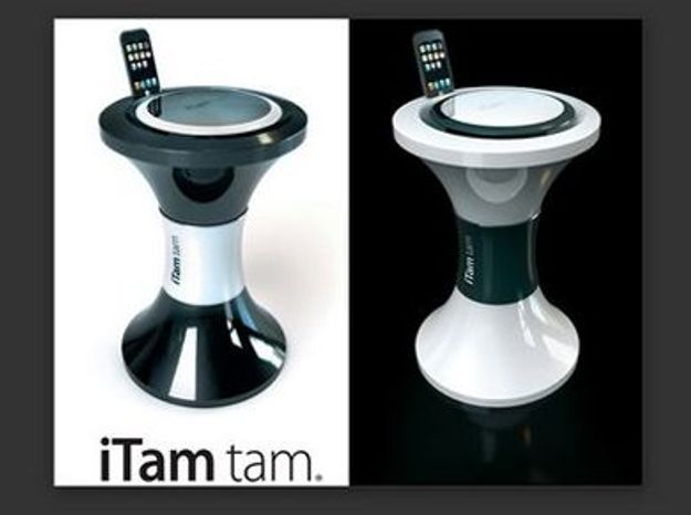 tabouret itam tam branex design chez colette en novembre elle d coration. Black Bedroom Furniture Sets. Home Design Ideas