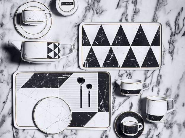 l 39 objet d co du jour une vaisselle rock 39 n 39 chic elle d coration. Black Bedroom Furniture Sets. Home Design Ideas