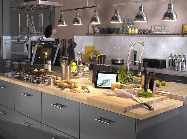 Dossier Spécial Cuisine Elle Décoration - Cuisiniere 3 feux pour idees de deco de cuisine