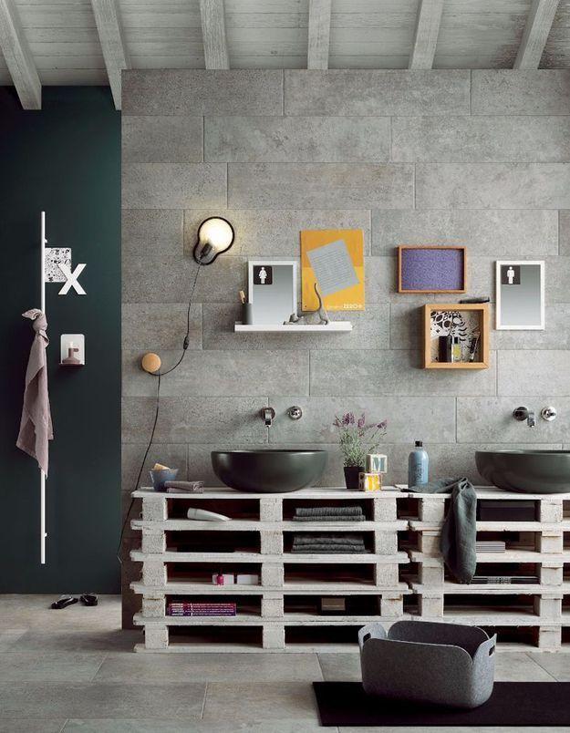 1 salle de bains 6 id es qu on adore elle d coration for Idee decoration murale salle de bain