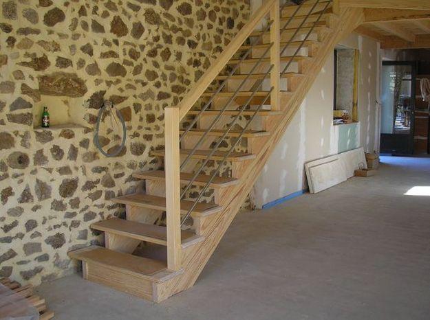 installer un escalier droit elle d coration. Black Bedroom Furniture Sets. Home Design Ideas