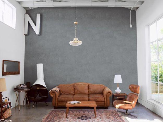 un enduit effet b ton elle d coration. Black Bedroom Furniture Sets. Home Design Ideas