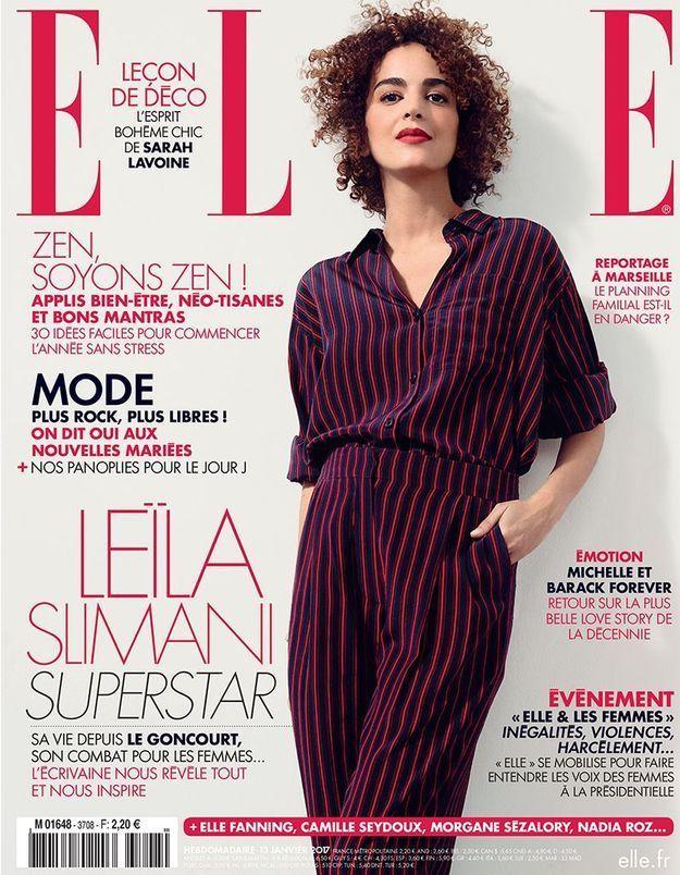 Leïla Slimani, prix Goncourt, en couverture de ELLE cette semaine !