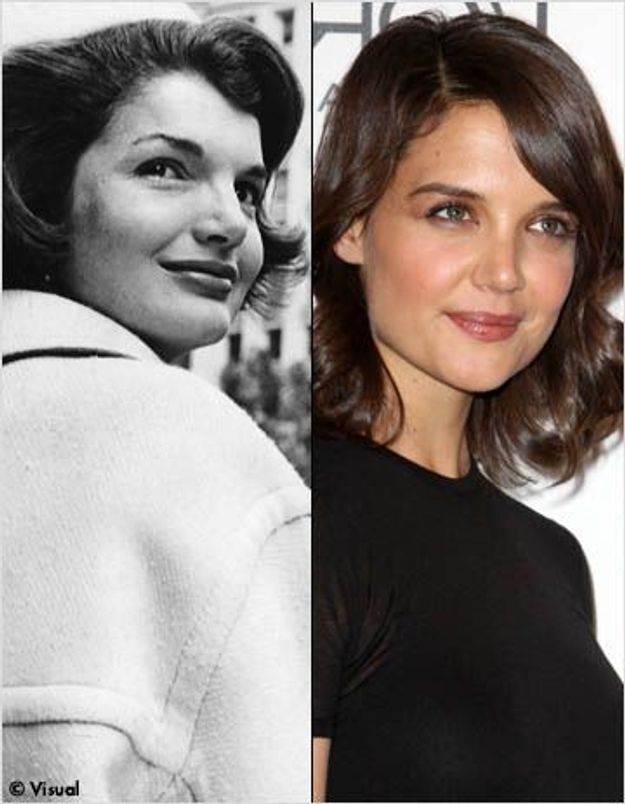 katie holmes dans la peau de jackie kennedy pour la t l elle. Black Bedroom Furniture Sets. Home Design Ideas
