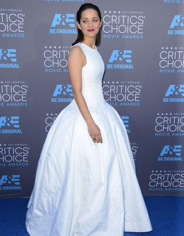 La bague Chopard de Marion Cotillard aux Critics' Choice Awards