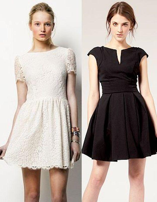 petite robe blanche ou noire une vraie querelle de filles elle. Black Bedroom Furniture Sets. Home Design Ideas