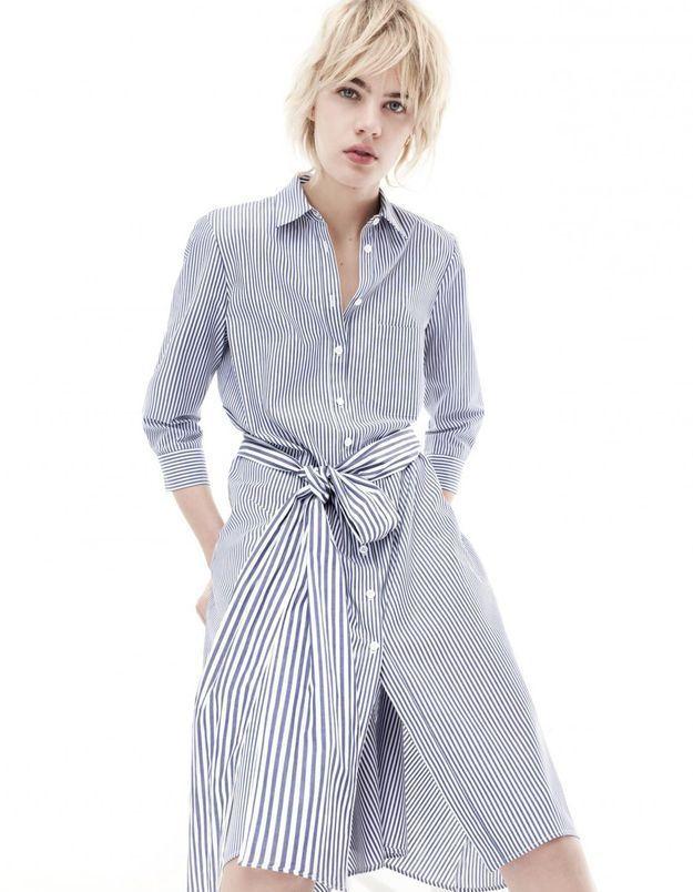 Robe zara blanche et bleue