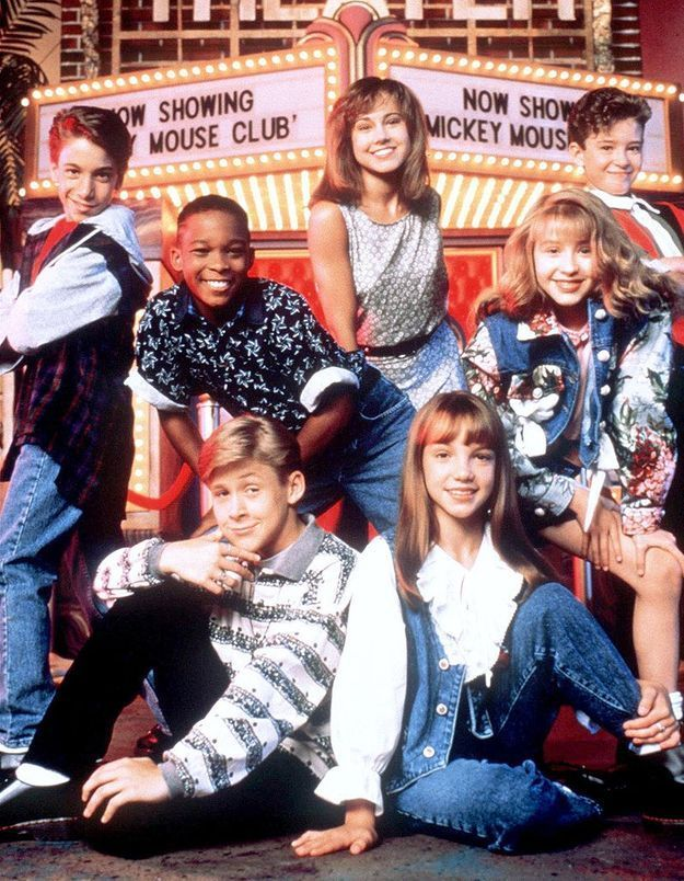 Ryan Gosling au «Mickey Mouse Club», avec Christina Aguilera, Britney Spears et Justin Timberlake.