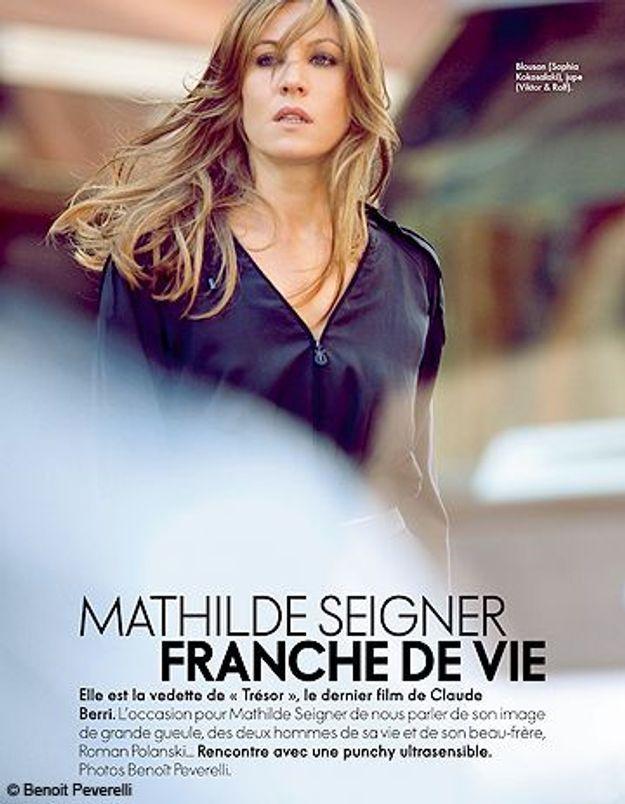 """Mathilde Seigner: """"Je me trouve plutôt mieux qu'avant"""""""