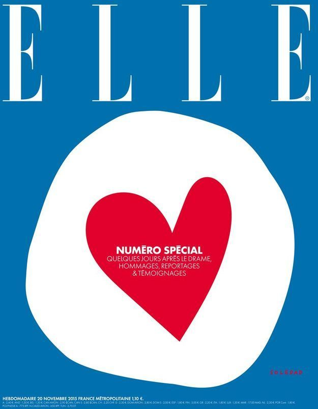 Cette semaine, ELLE publie un numéro spécial suite aux attentats qui ont frappé Paris