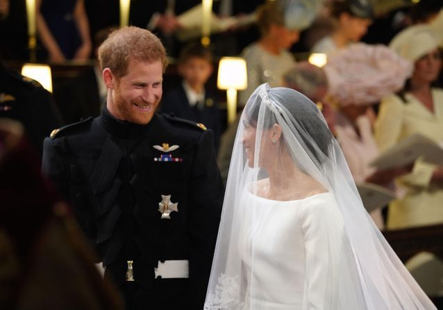 PHOTOS \u2013 Mariage du prince Harry et Meghan Markle  sourires complices et  regards tendres,