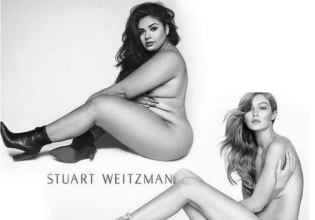 Body positive : elle refait la même photo que Gigi Hadid nue
