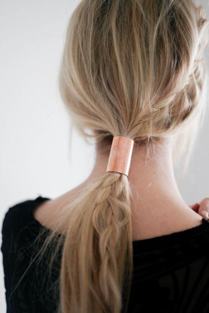 Sehr Cheveux attachés en queue-de-cheval basse originale automne-hiver  KH75