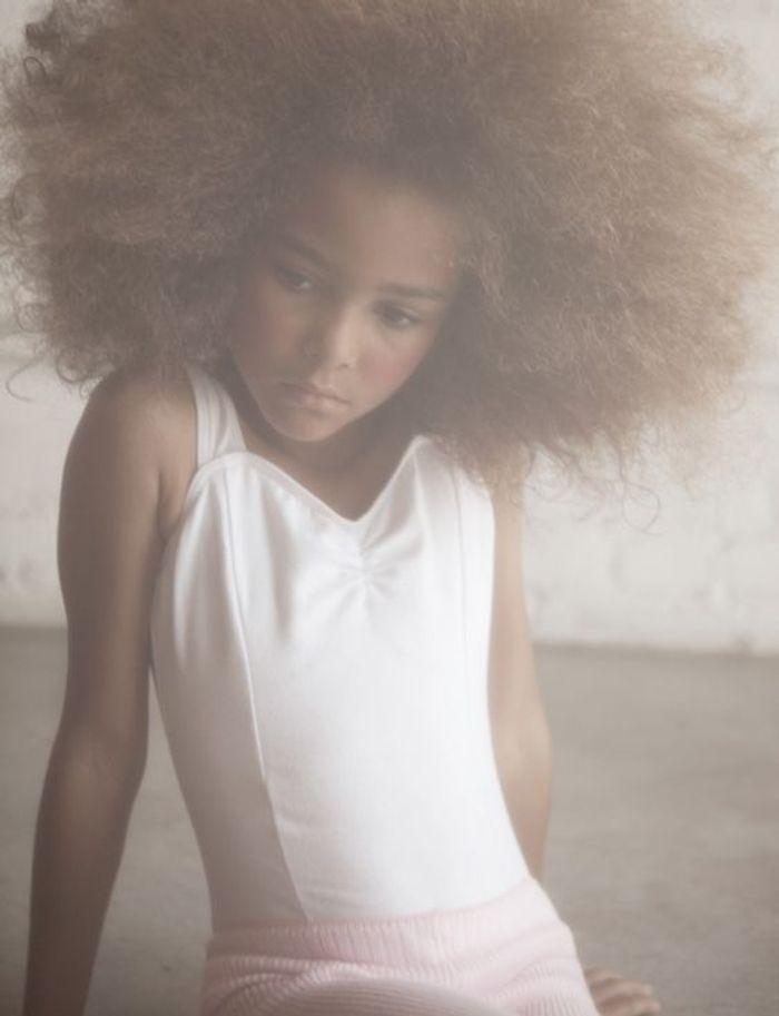 Fabuleux Coiffure petite fille cheveux frisés - 40 coiffures de petite  YT44
