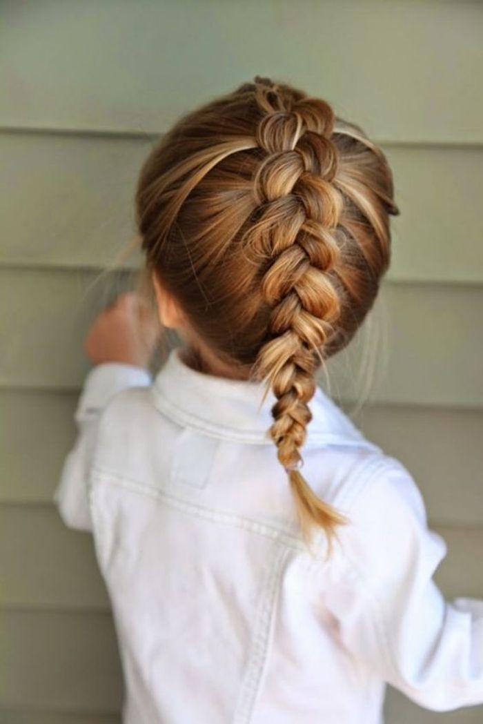 Relativ Coiffure petite fille tresse africaine - 40 coiffures de petite  DV57