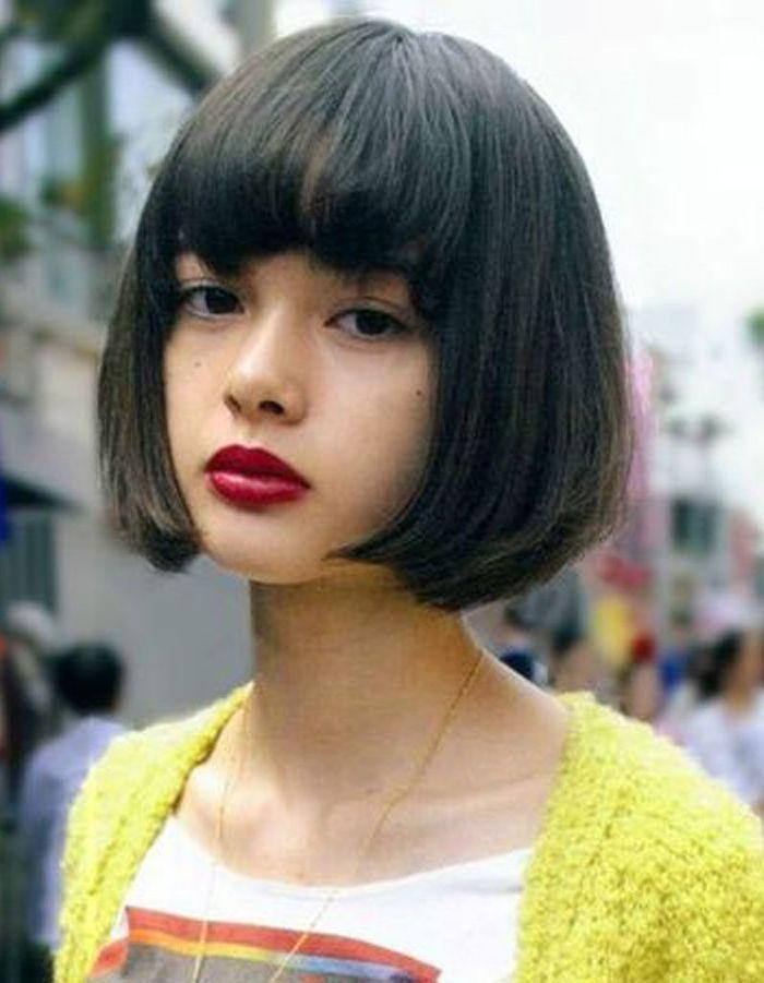 Super Coiffure visage rond frange - 40 coiffures canon pour les visages  KR16