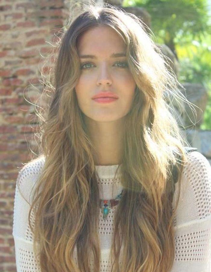 Bien-aimé Coiffure cheveux longs ondulés 2016 - Coiffure cheveux longs : 78  TD63