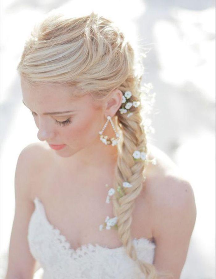 Coiffure de mari e tresse pi les plus jolies coiffures de mari e pour s inspirer elle - Coiffure mariage tresse ...
