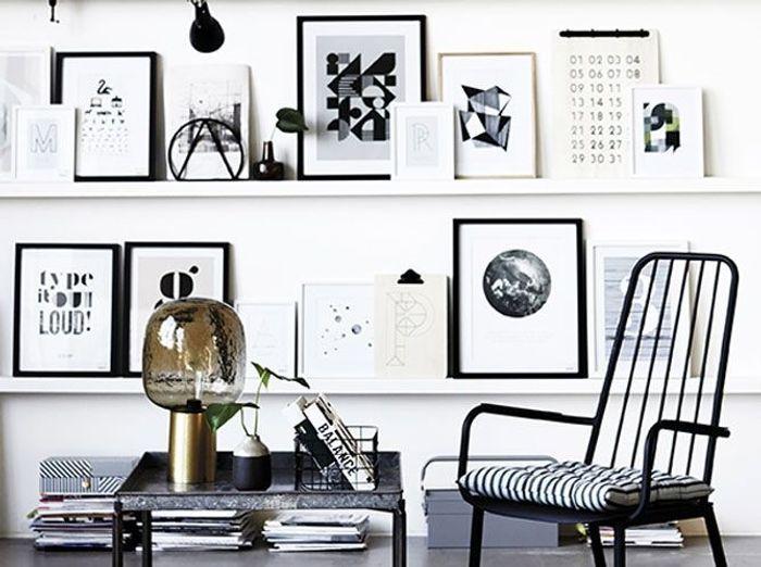 le noir et blanc le nouveau duo gagnant elle d coration. Black Bedroom Furniture Sets. Home Design Ideas