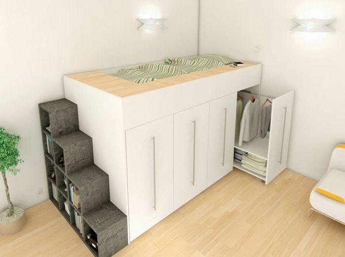 Super 10 solutions pour aménager le dessous d'un lit mezzanine - Elle  YH35