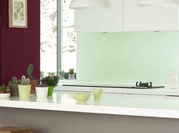cuisine vert menthe tg02 jornalagora. Black Bedroom Furniture Sets. Home Design Ideas