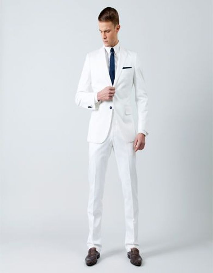 Bien connu costume blanc mariage,italienne costume de mariage blanc LF42
