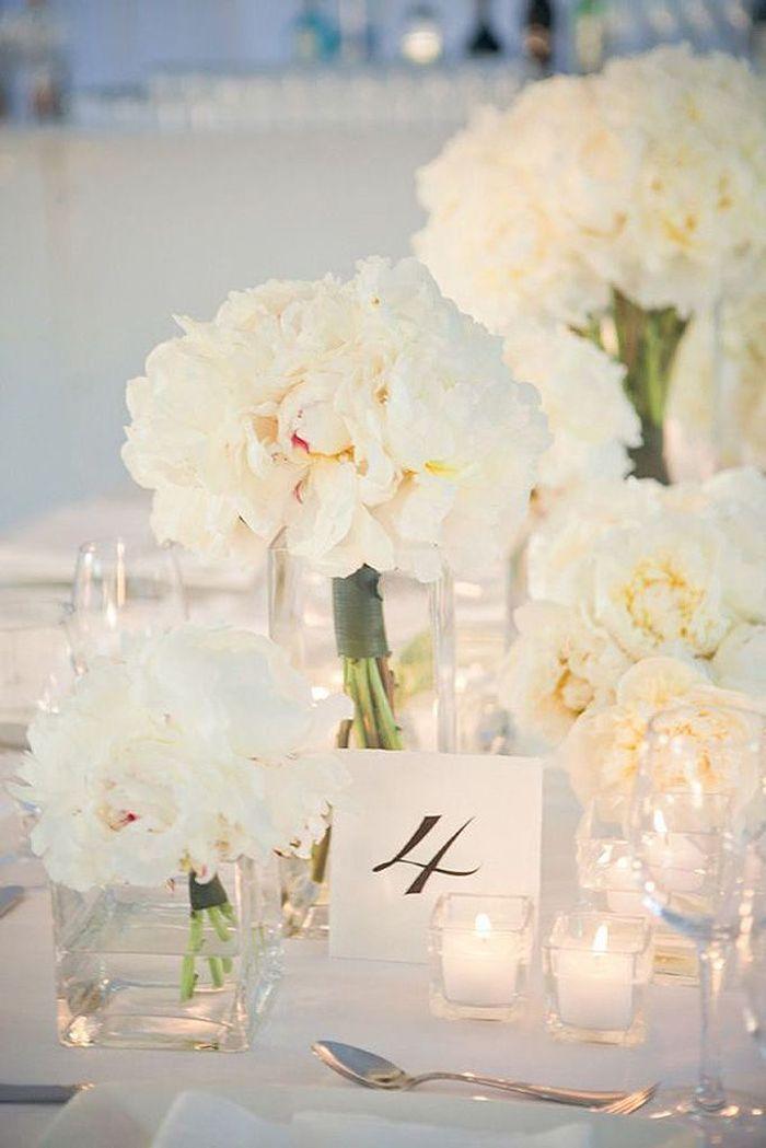 Achat Vase Decoration Mariage : Bouquet de fleurs blanches pour décoration mariage