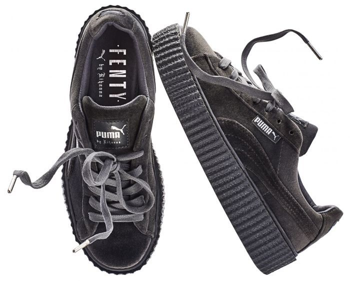 puma creepers grise et or