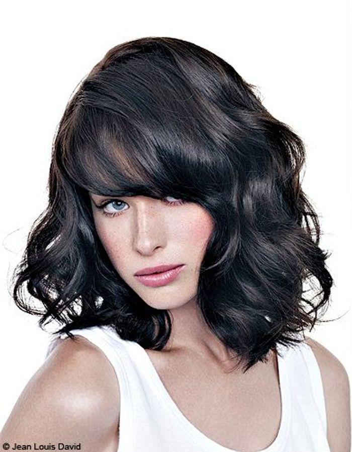 Carr naturel jean louis david 100 coiffures printemps t 2012 elle - Carre plongeant frise naturel ...