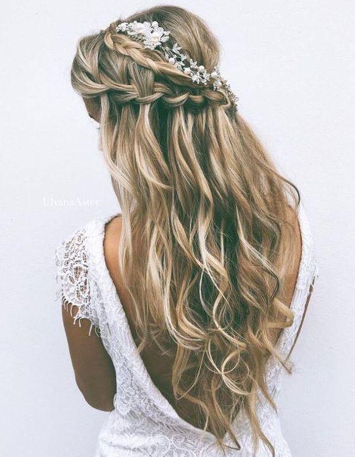 Coupe Cheveux Long Boucles Mariage